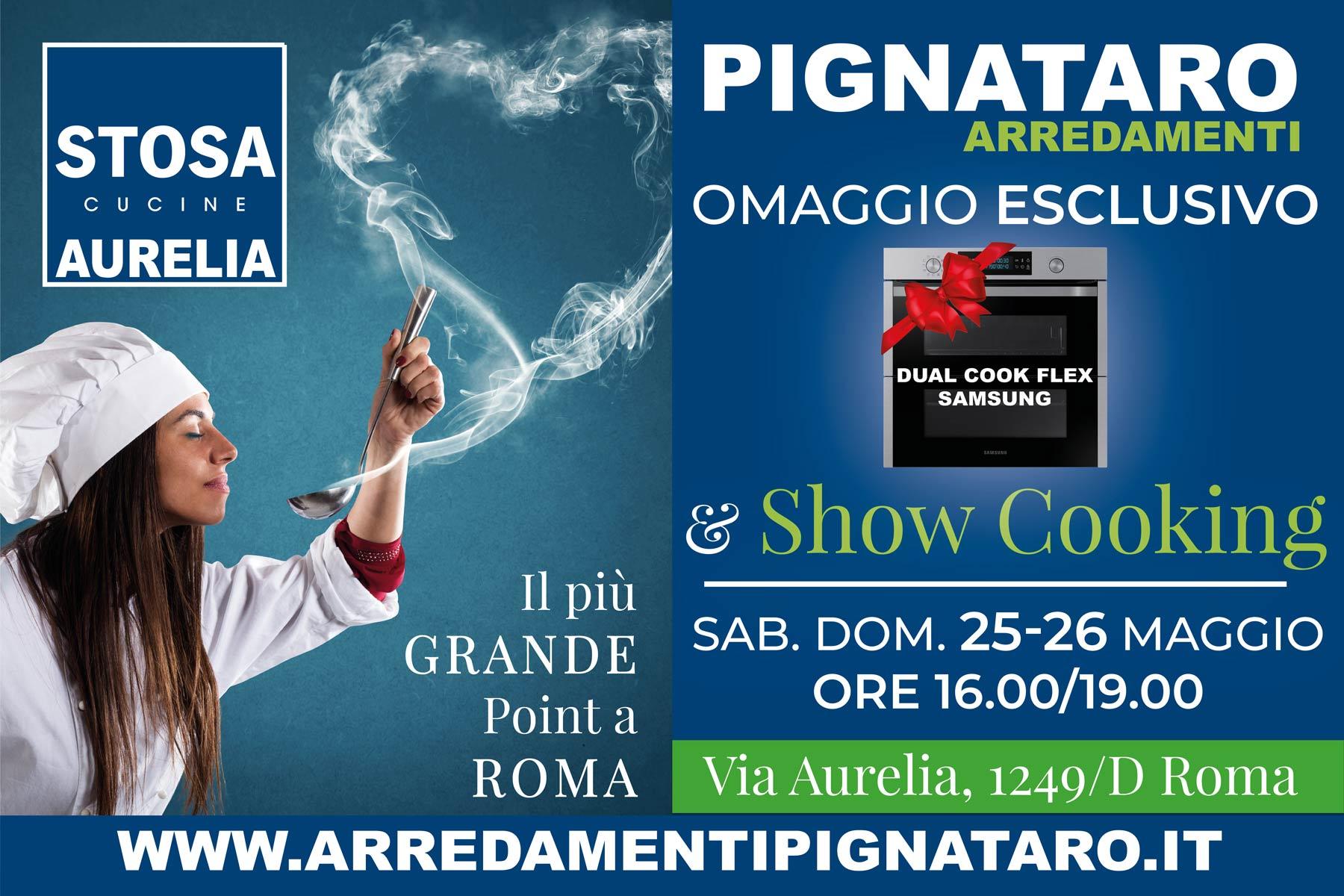 show cooking 25 e 26 maggio evento nel point più grande di Roma presso il Centro Cucine Stosa point Aurelia