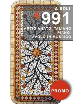 piano tavolo in mosaico disponibile su ordinazione in diverse misure
