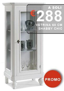vetrina laccata bianco opaco