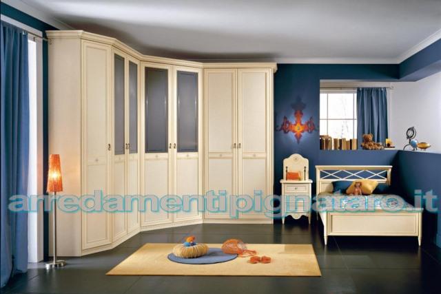 armadio con cabina in stile classico per camere da letto per ragazzi