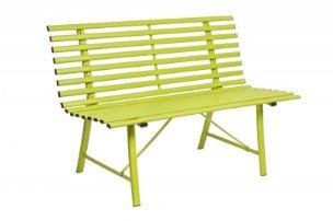 panchina gialla da esterno