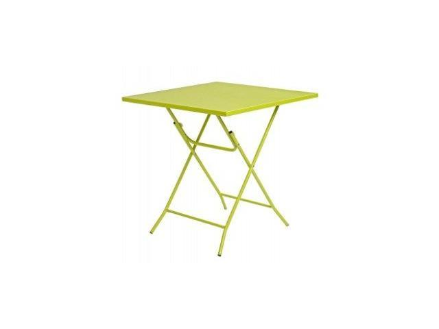 tavolino bar giallo da giardino