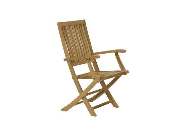 sedia pieghevole con braccioli da giardino