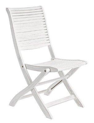 sedia shabby pieghevole da giardino