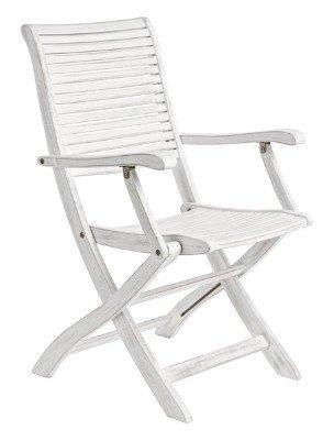 sedia shabby con braccioli da esterno