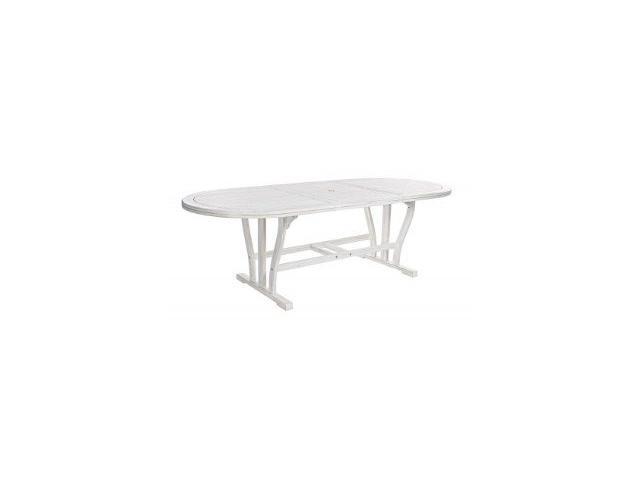 tavolo ovale da giardino in legno