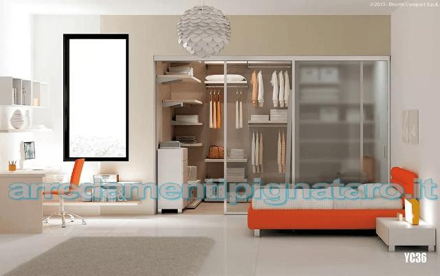 armadio e letto in offerta moretti compact