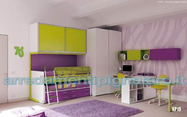 cameretta viola e verde moretti compact