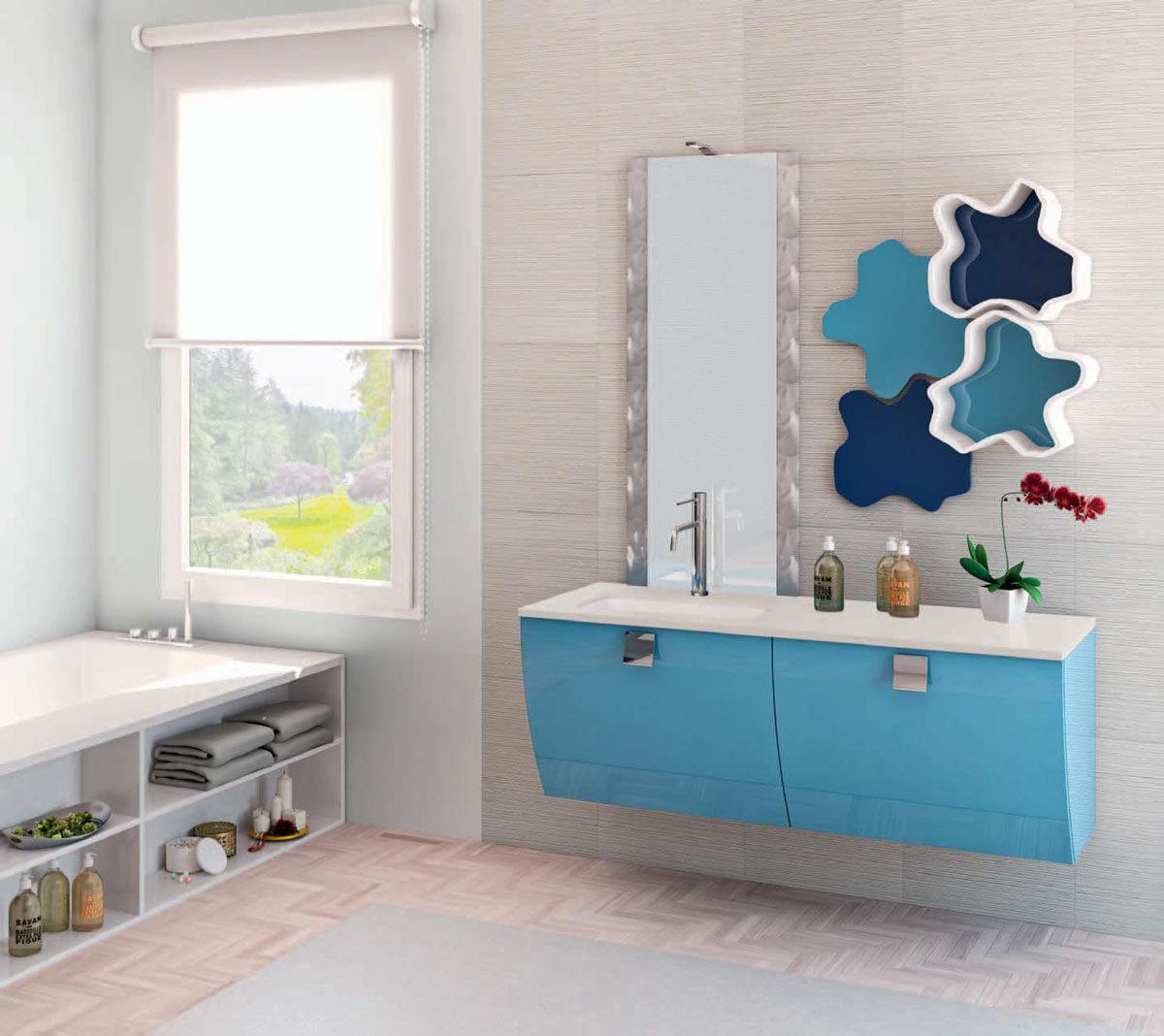mobili bagno a terra moderni