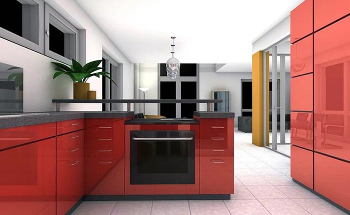 cucina moderna bicolore